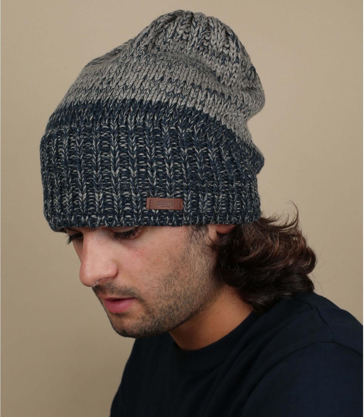 Long-cap blauw grijs Barts
