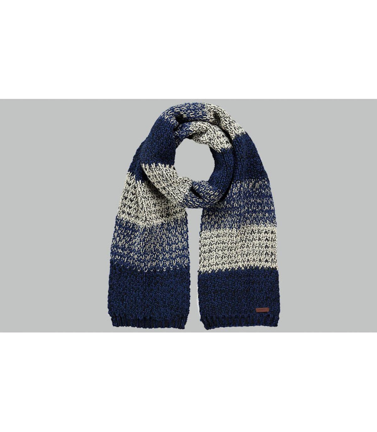 sjaal grijze blauwe strepen
