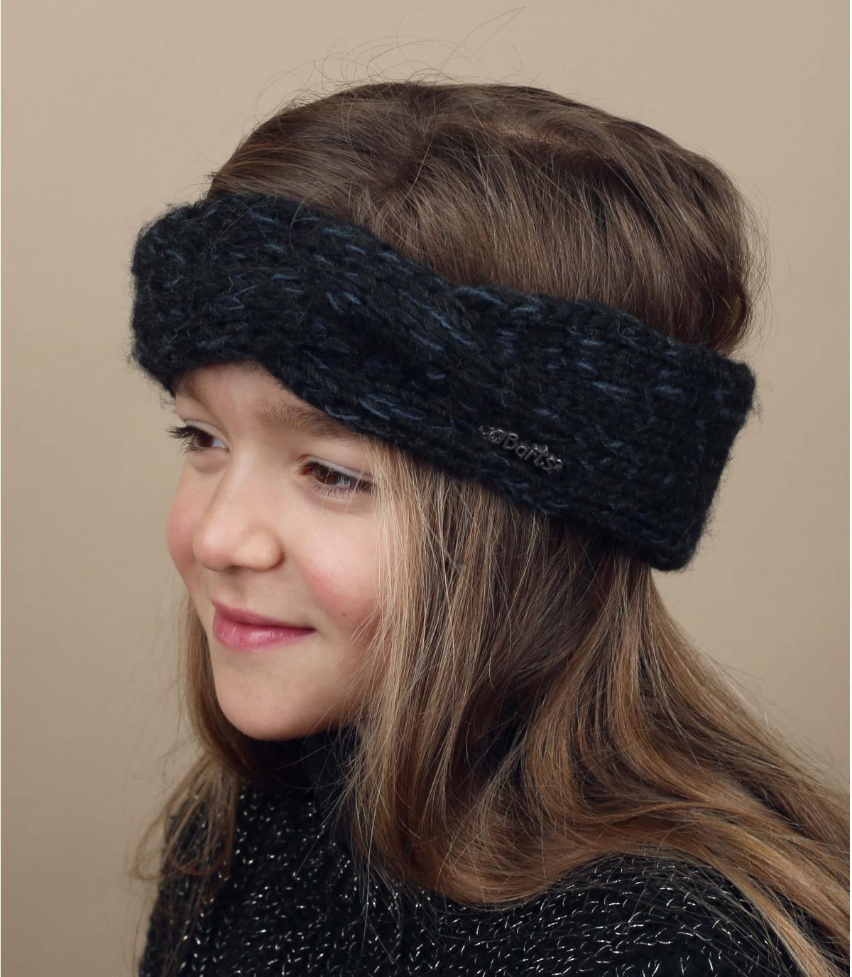 zwart gevlochten hoofdband girl