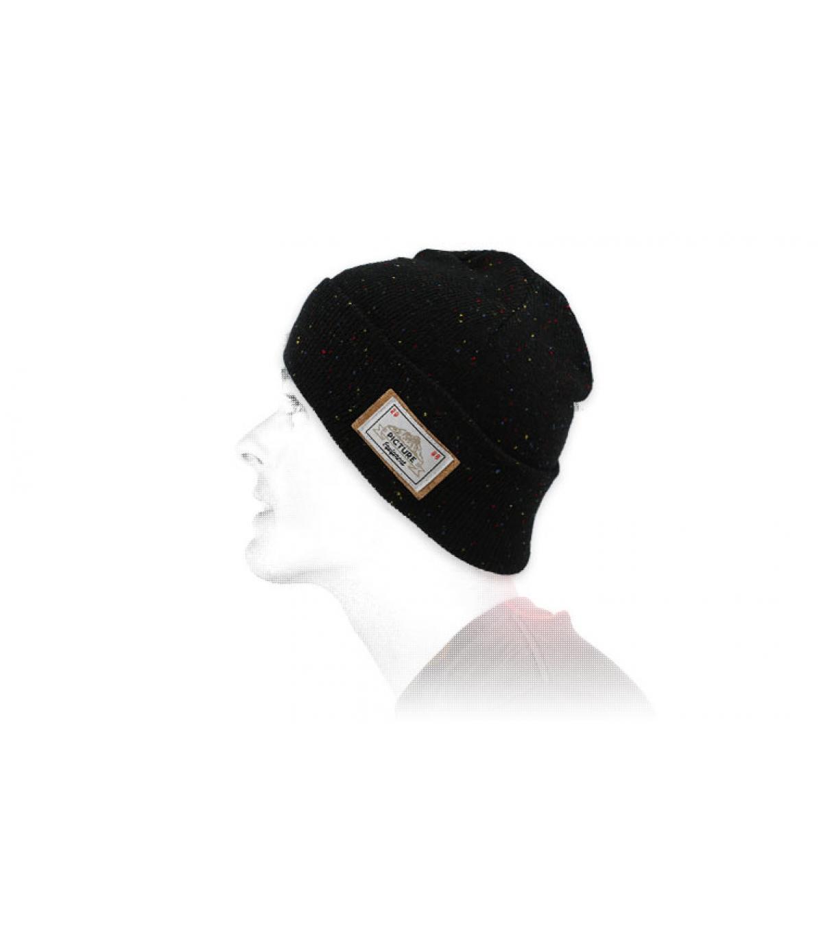 Foto cap zwarte revers