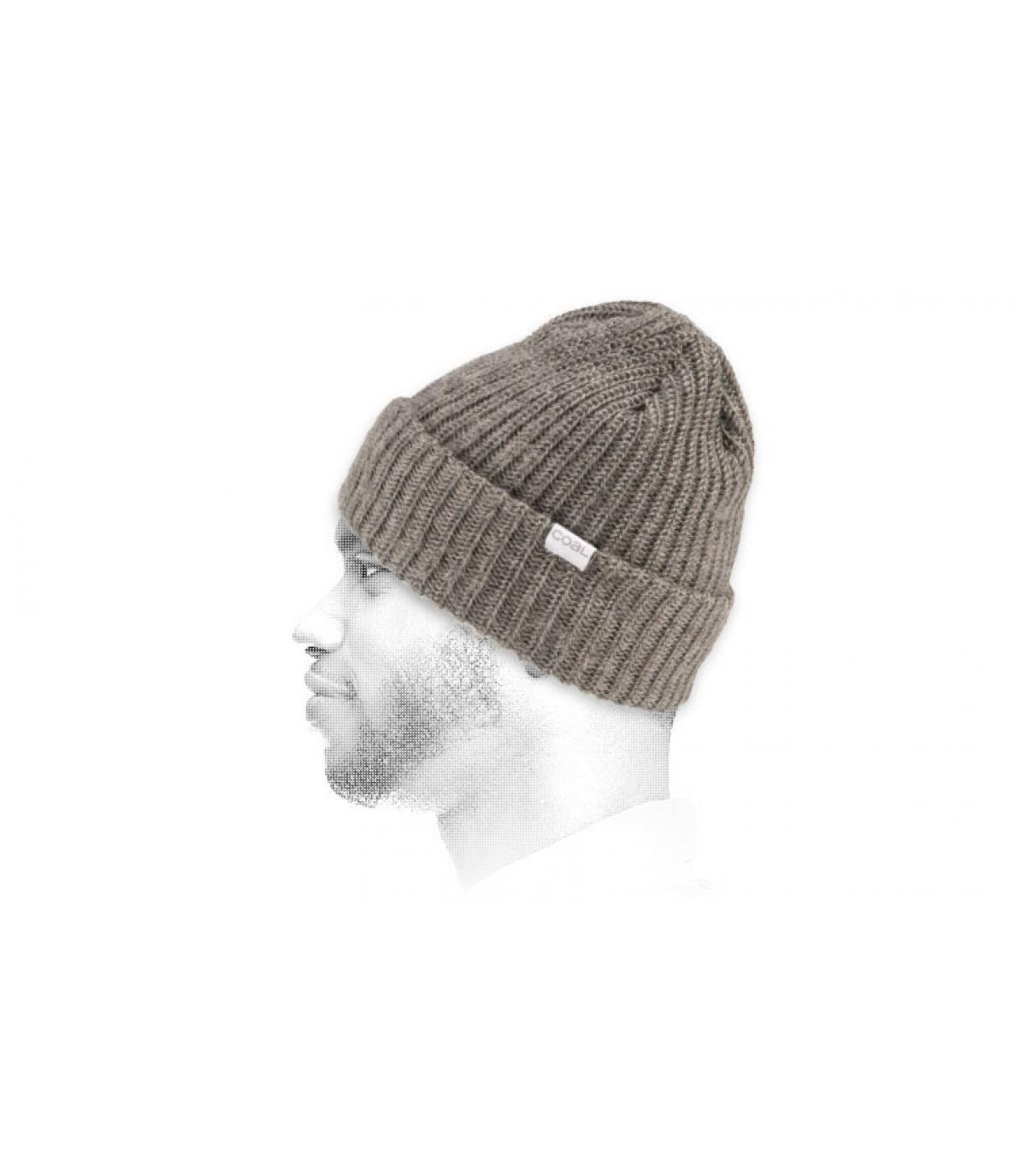 lichtgrijs mohair cap