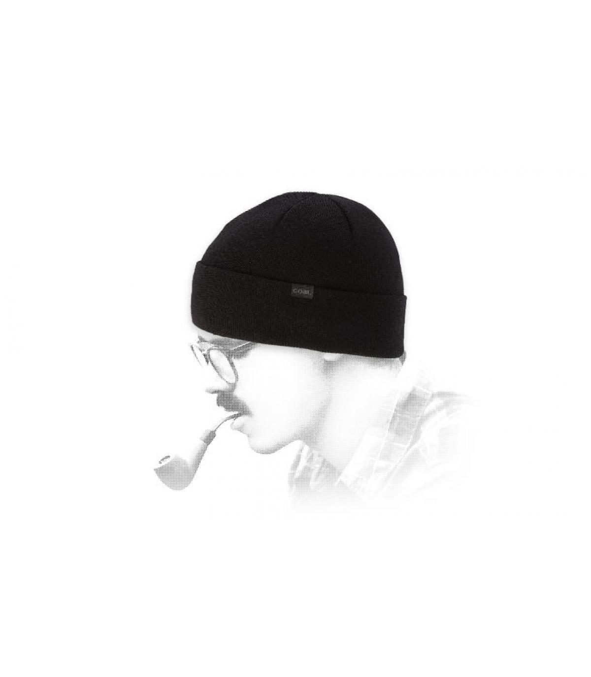 Steenkool zwarte merino cap