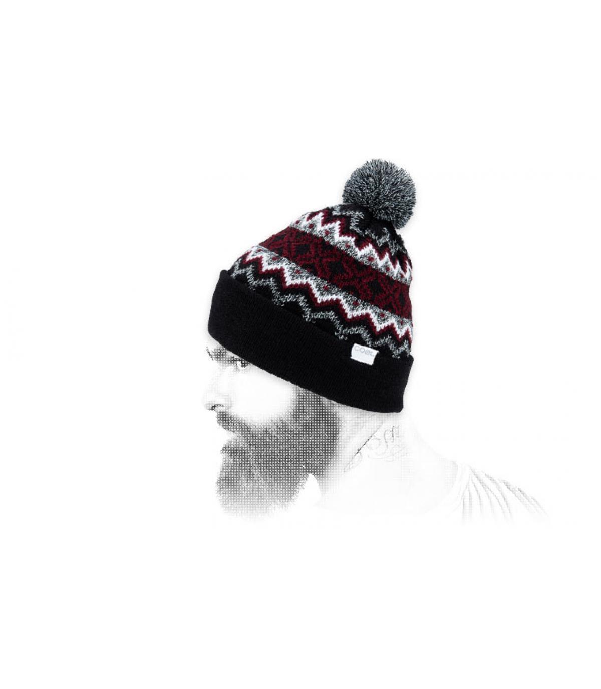 zwart patroon cap
