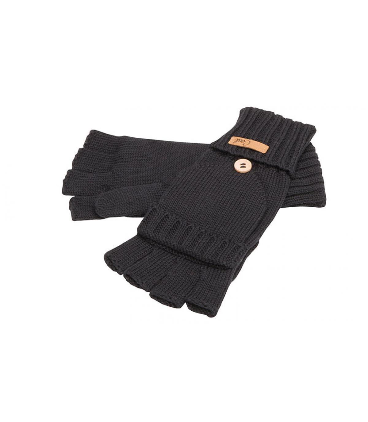 zwarte handschoenen wanten
