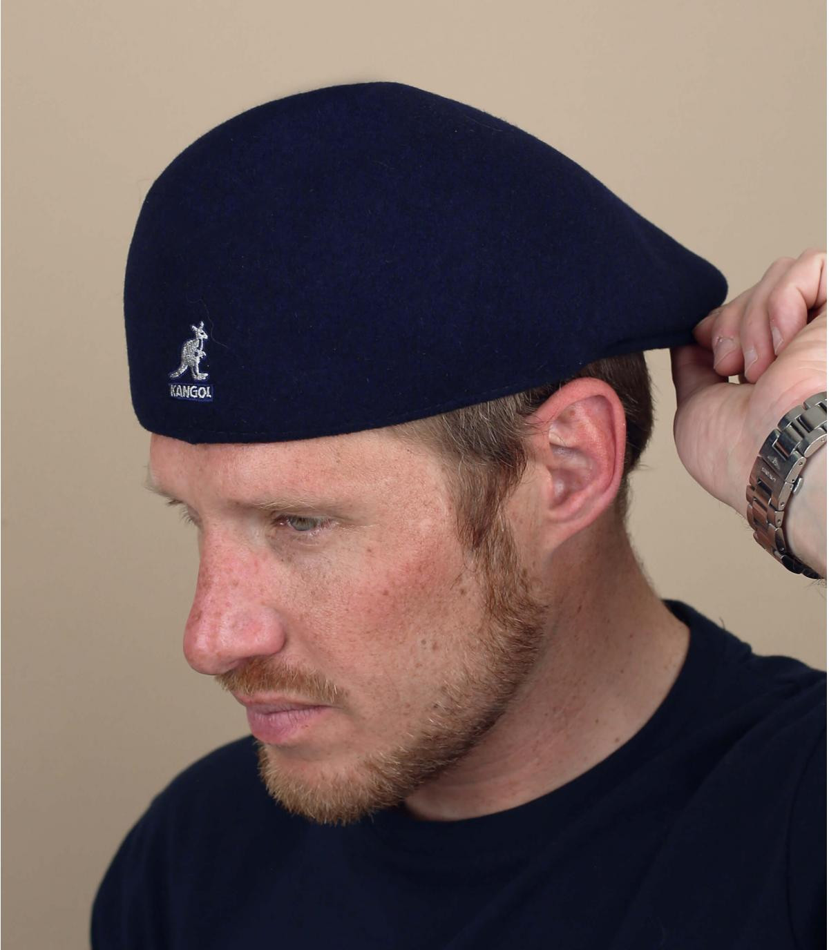 Baret 507 blauw marine