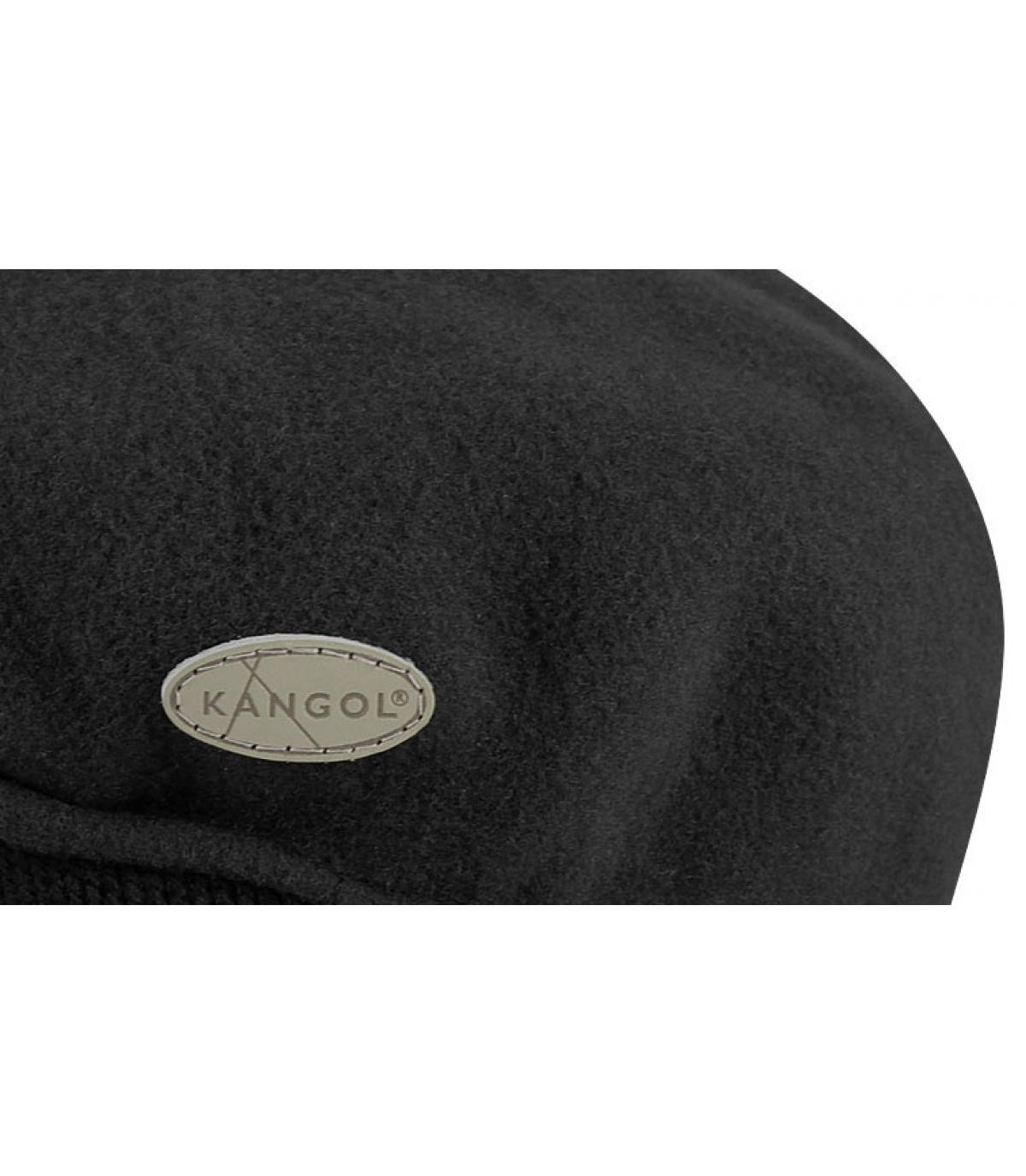 Details 504 wool earflap zwart - afbeeling 2