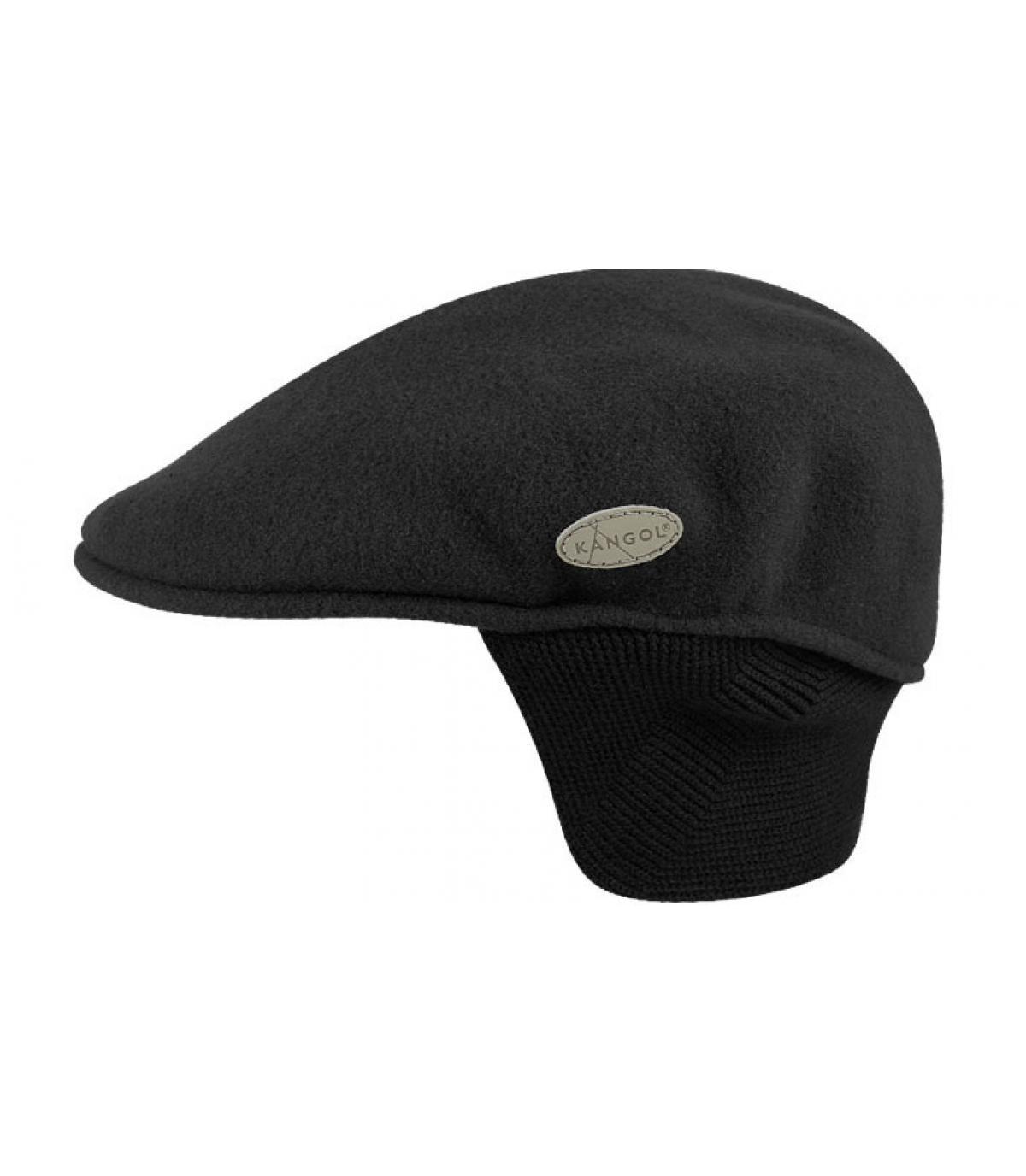 Details 504 wool earflap zwart - afbeeling 3
