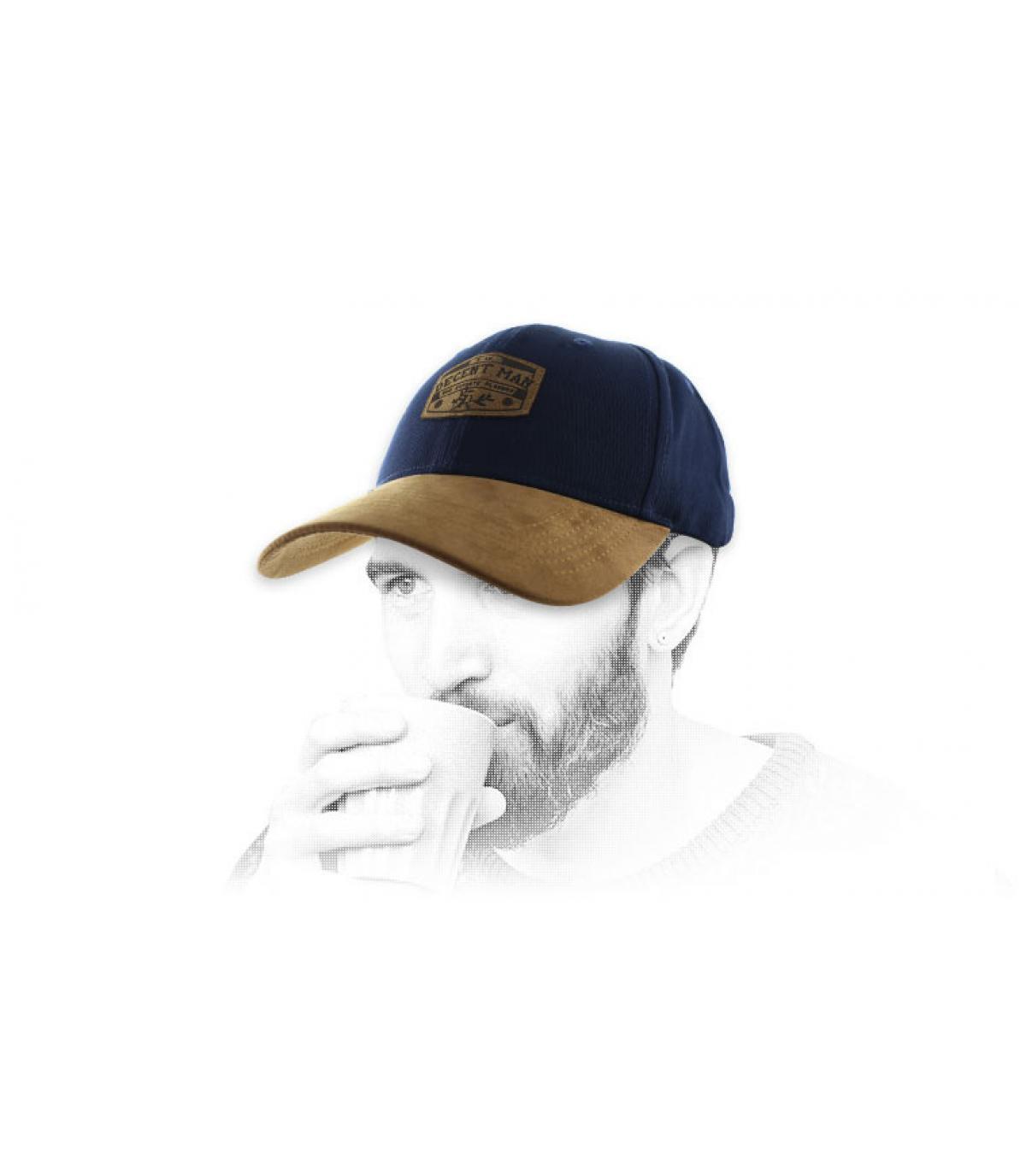 Cap fatsoenlijke man blauw