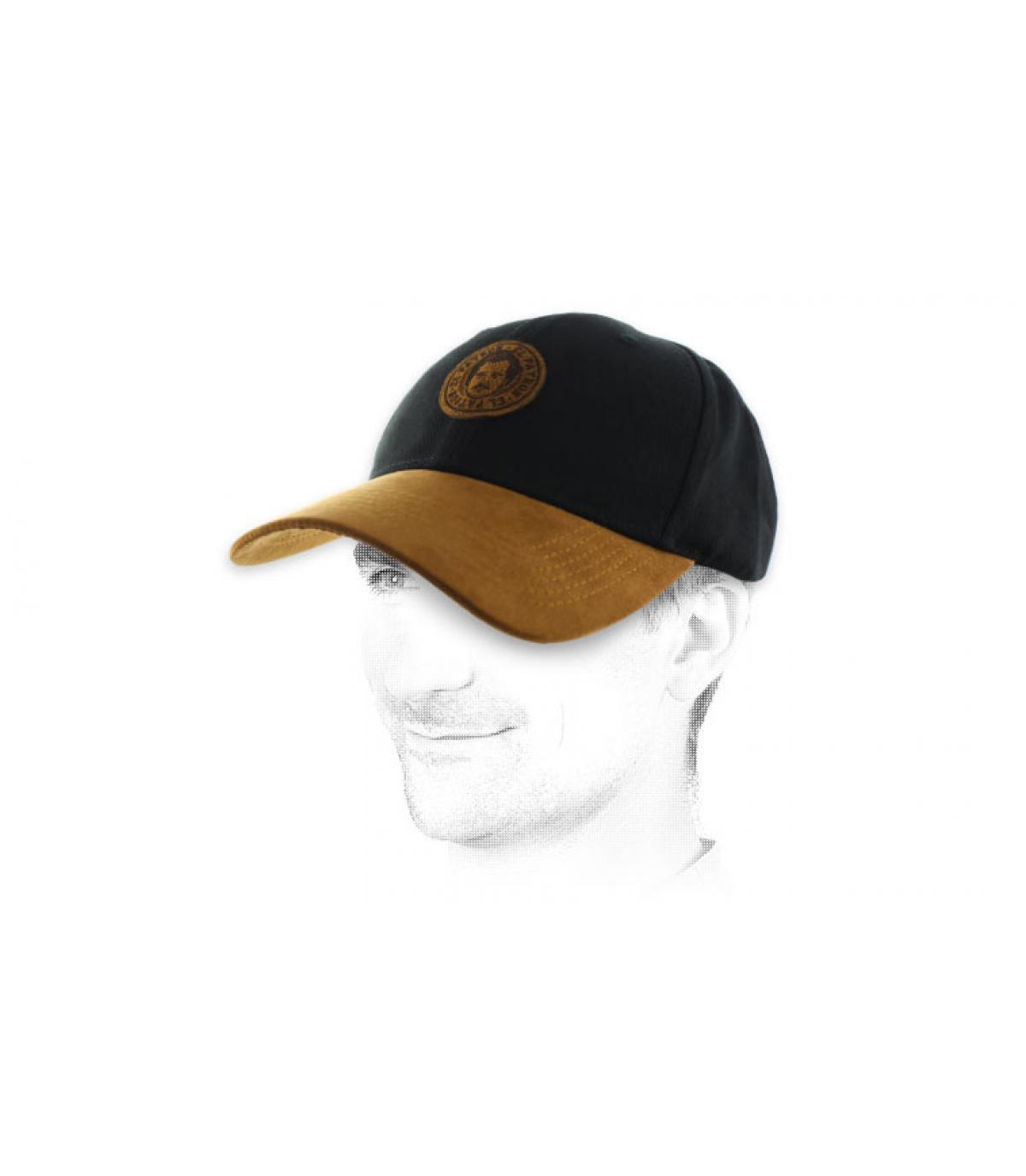 Pablo zwarte suede cap
