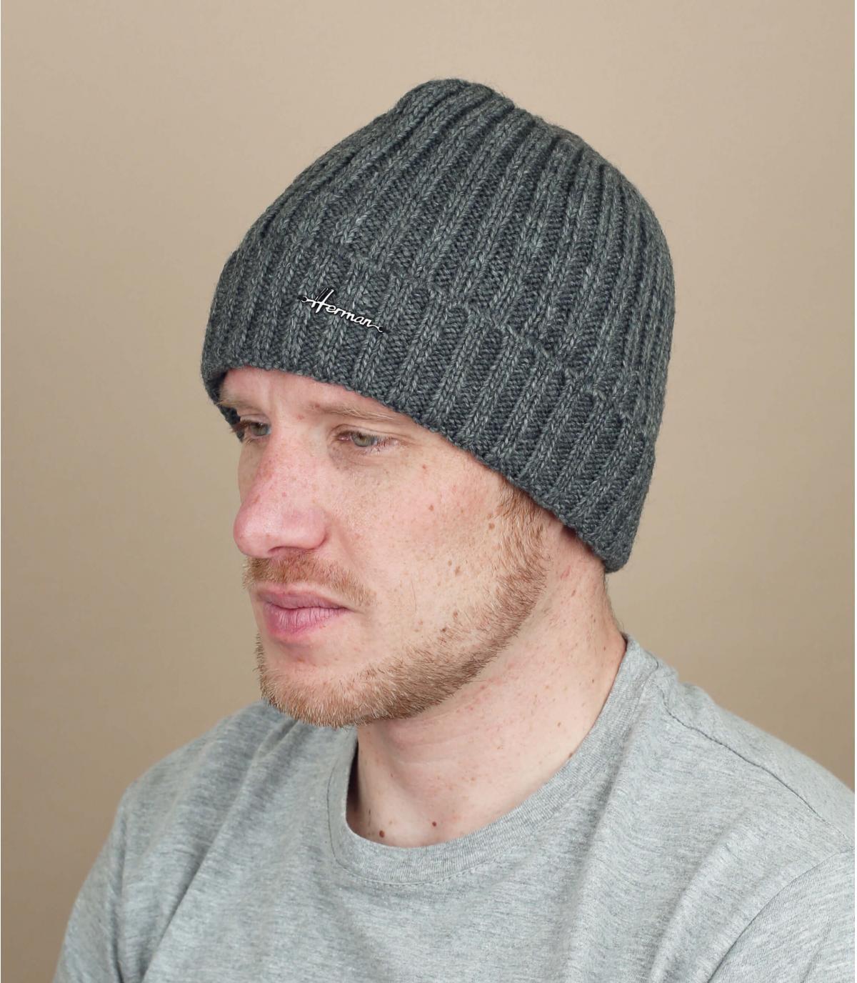 hoed revers grijze wollen