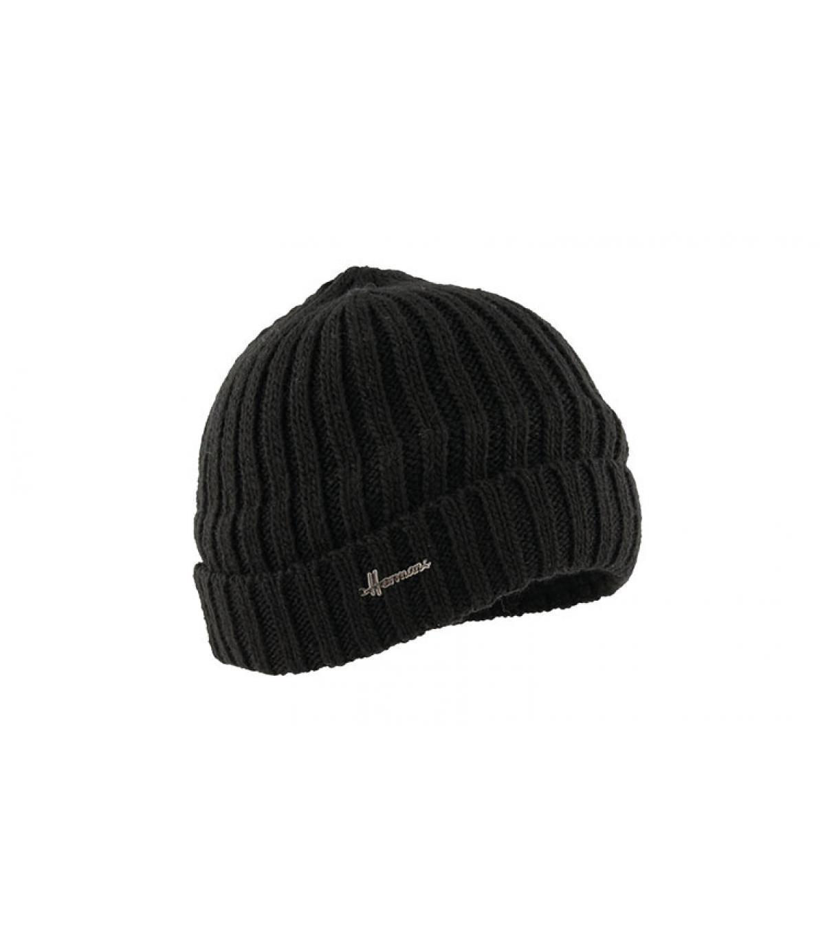 hoed revers zwarte wollen
