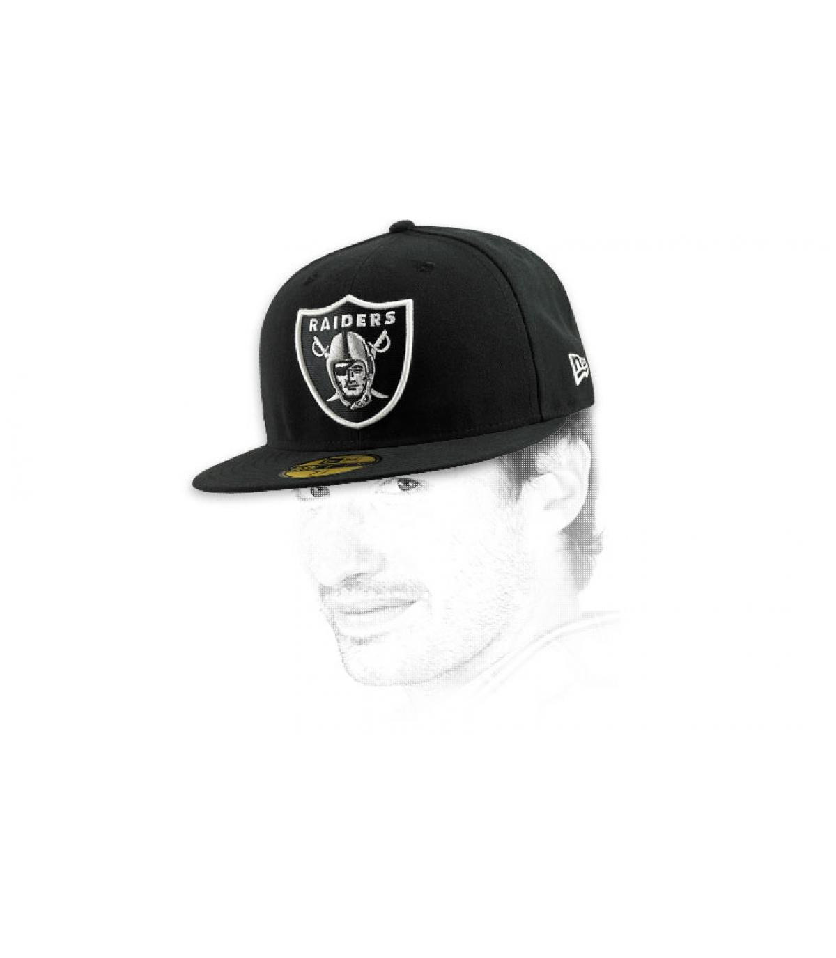 Details Cap Raiders zwart - afbeeling 6
