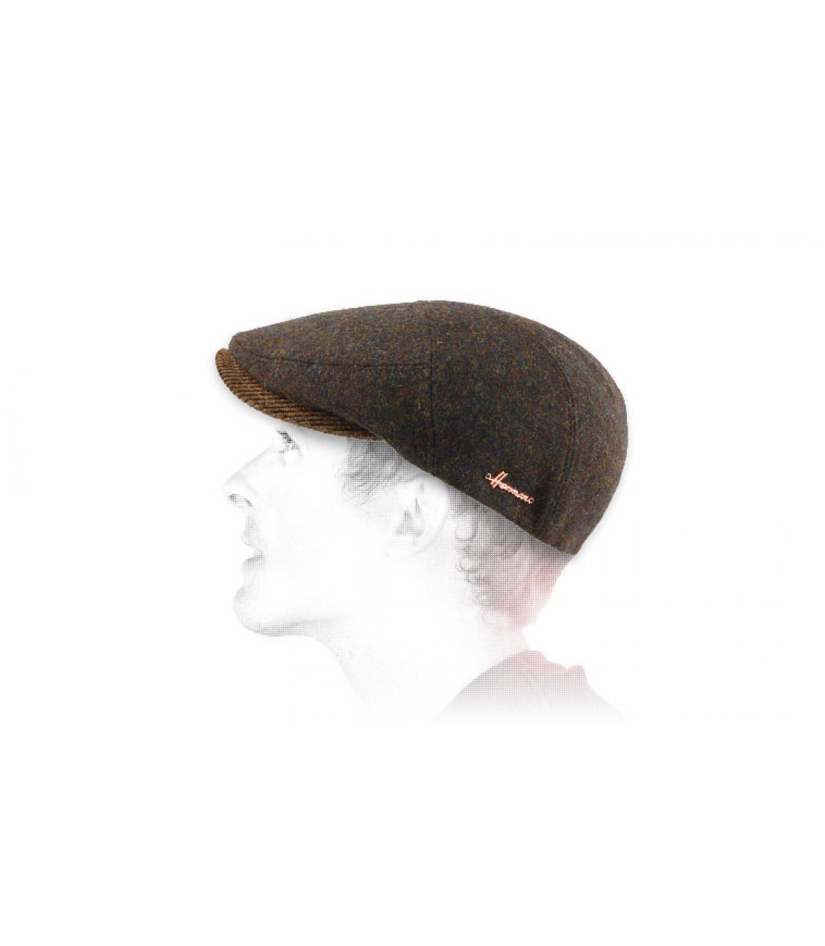 bruine wollen baret