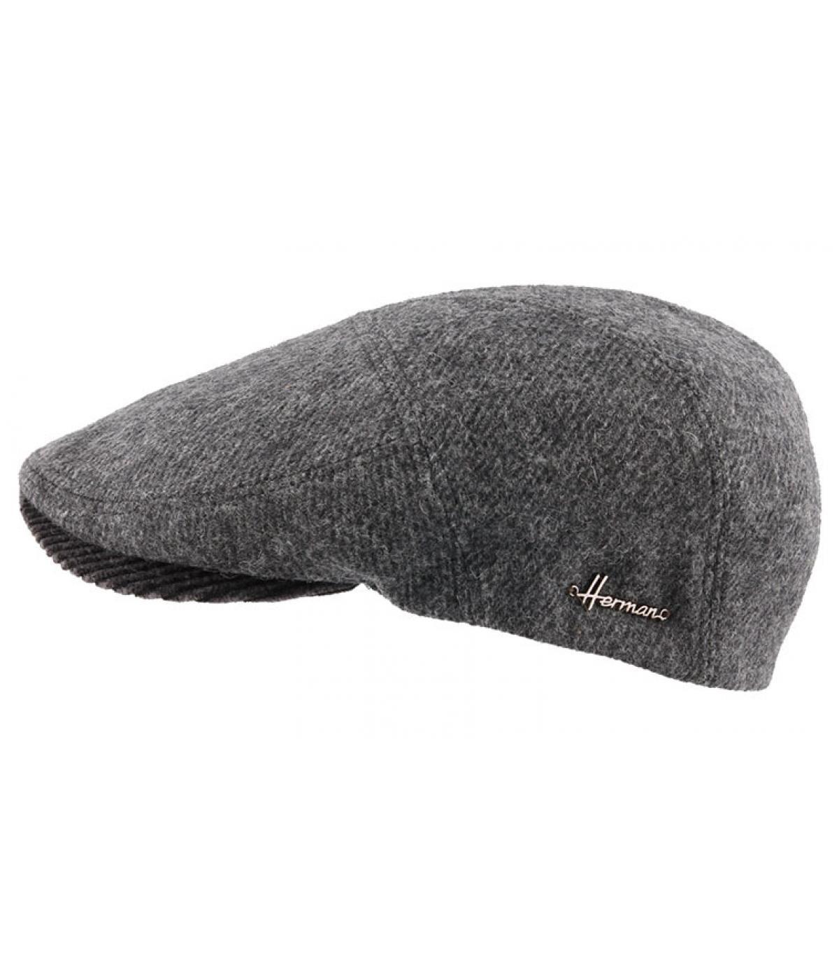 grijze wol baret