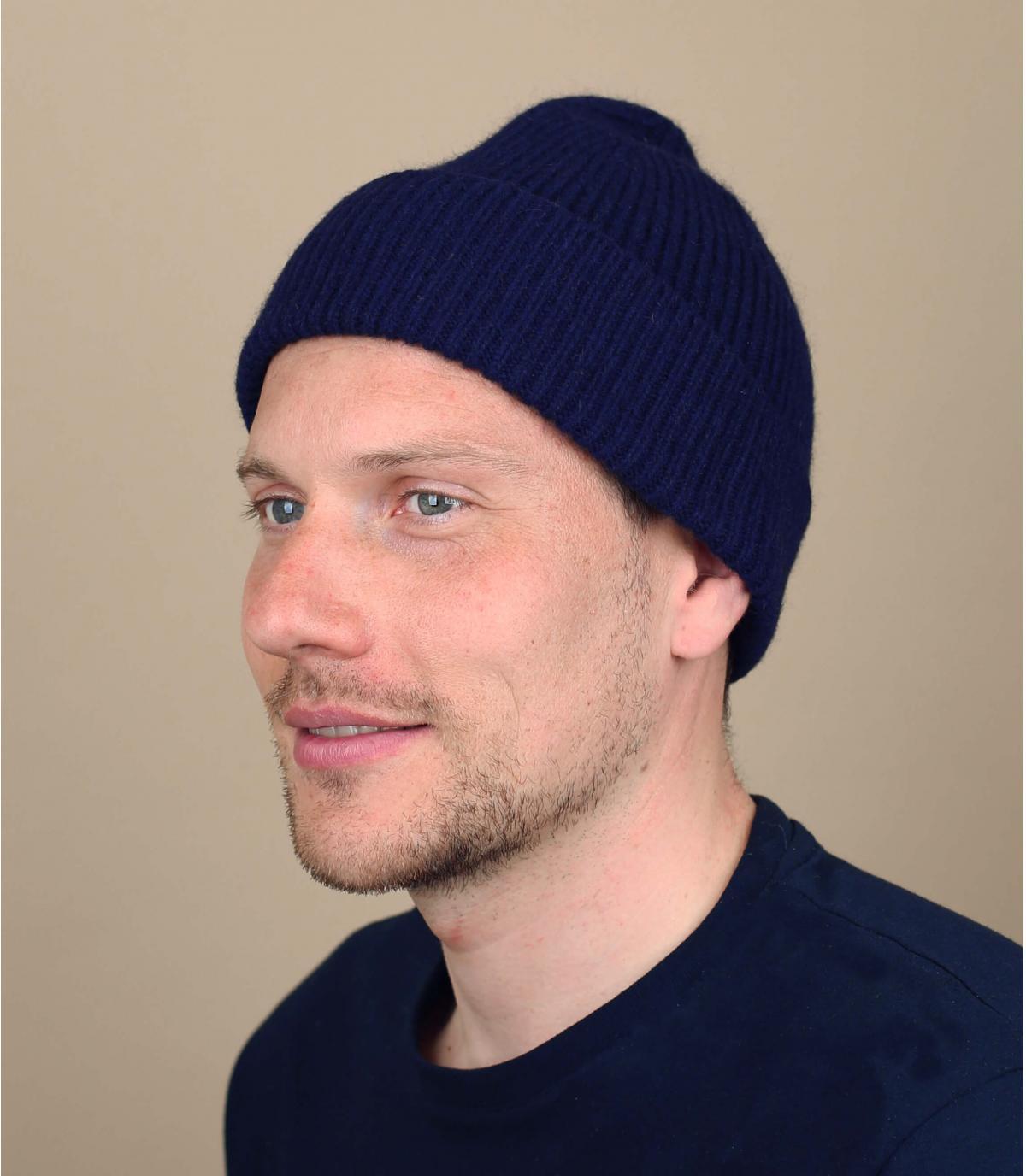 hoed revers marine angora