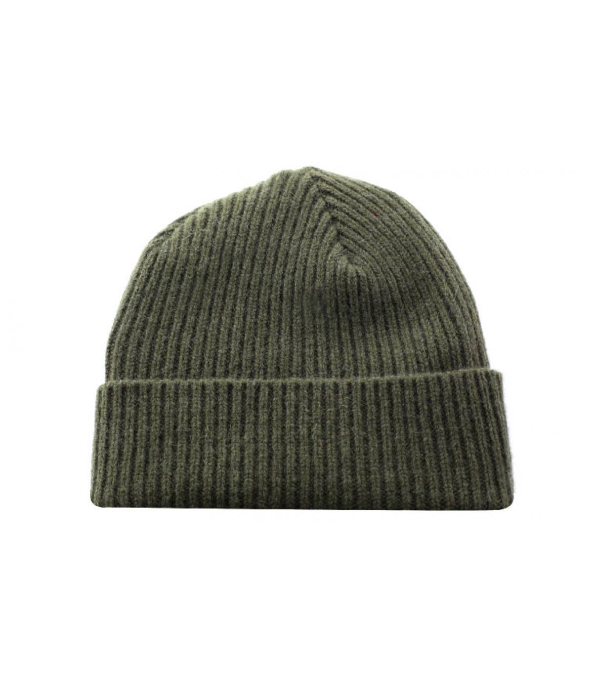 groene wol hoed revers