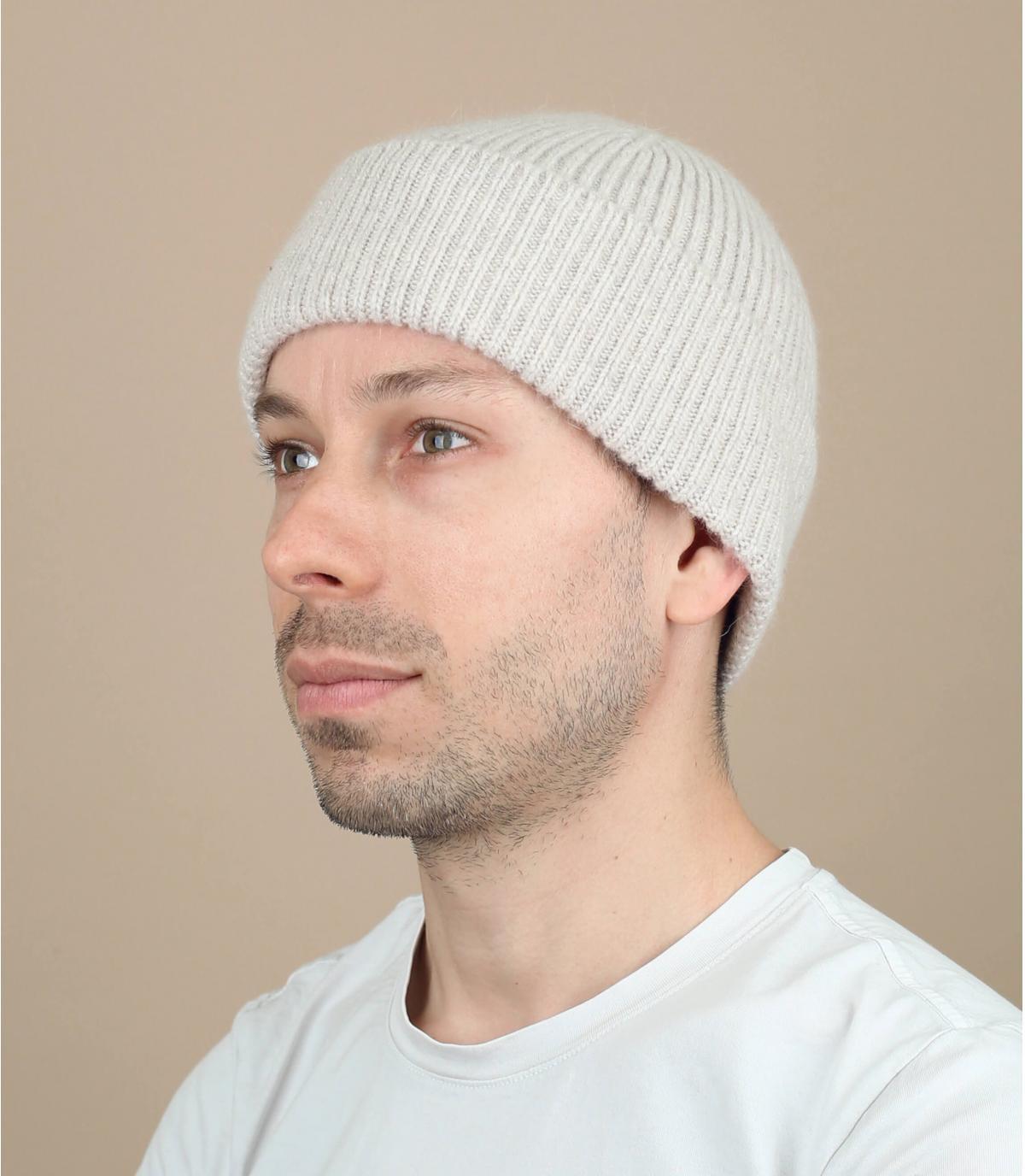 hoed revers angora beige