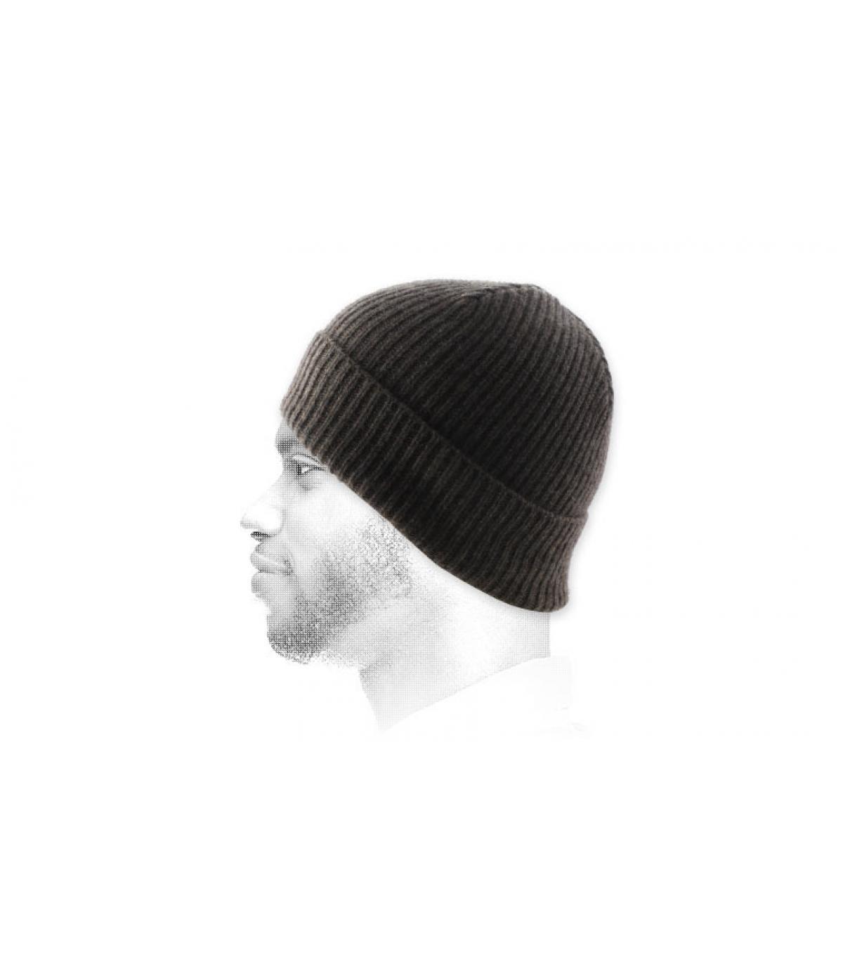 hoed revers bruin angora