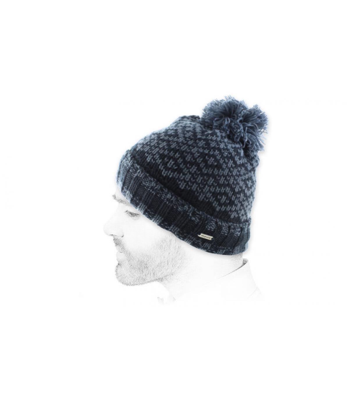 donkerblauwe cap leeswijzer