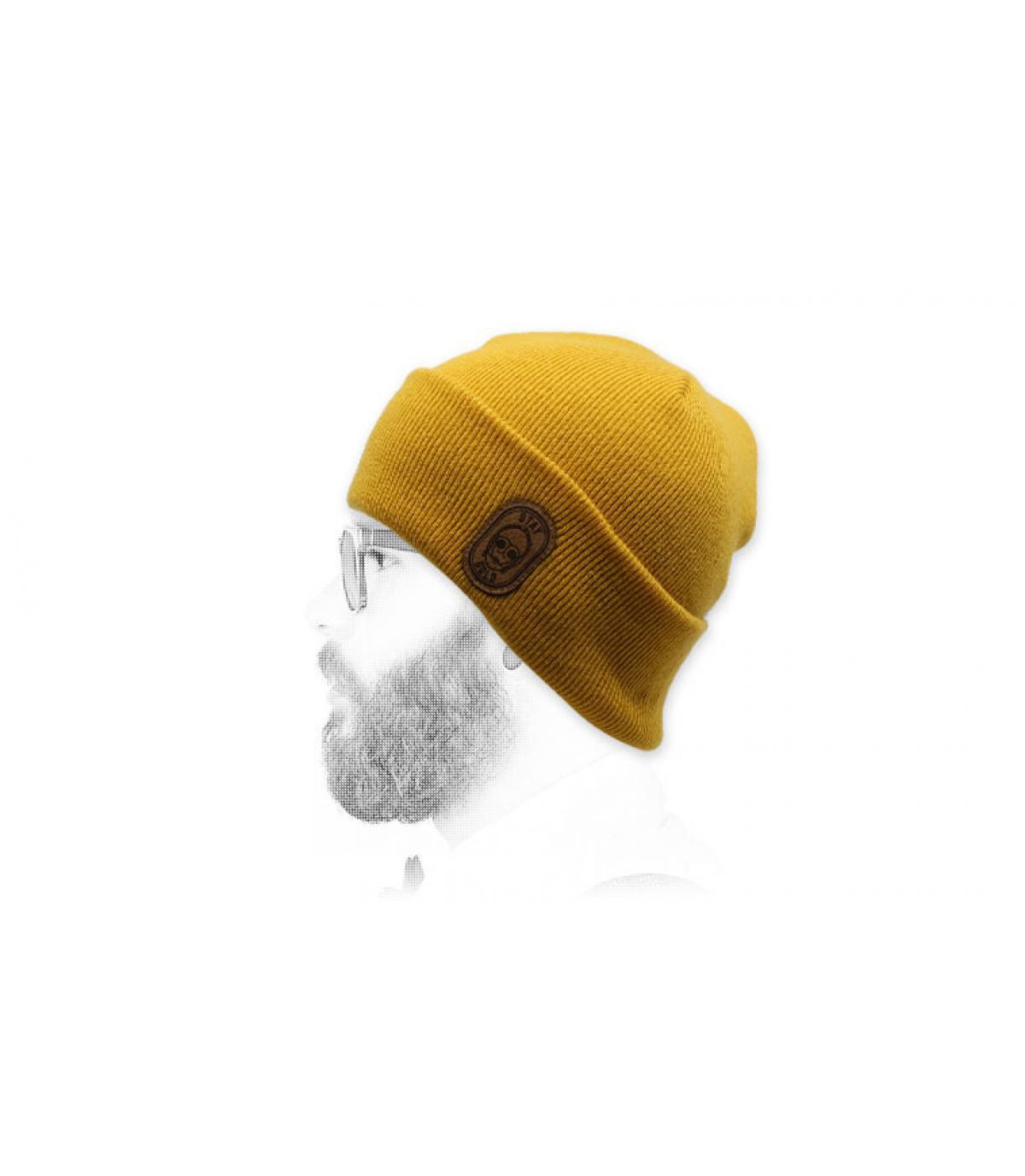 gele robot hoed