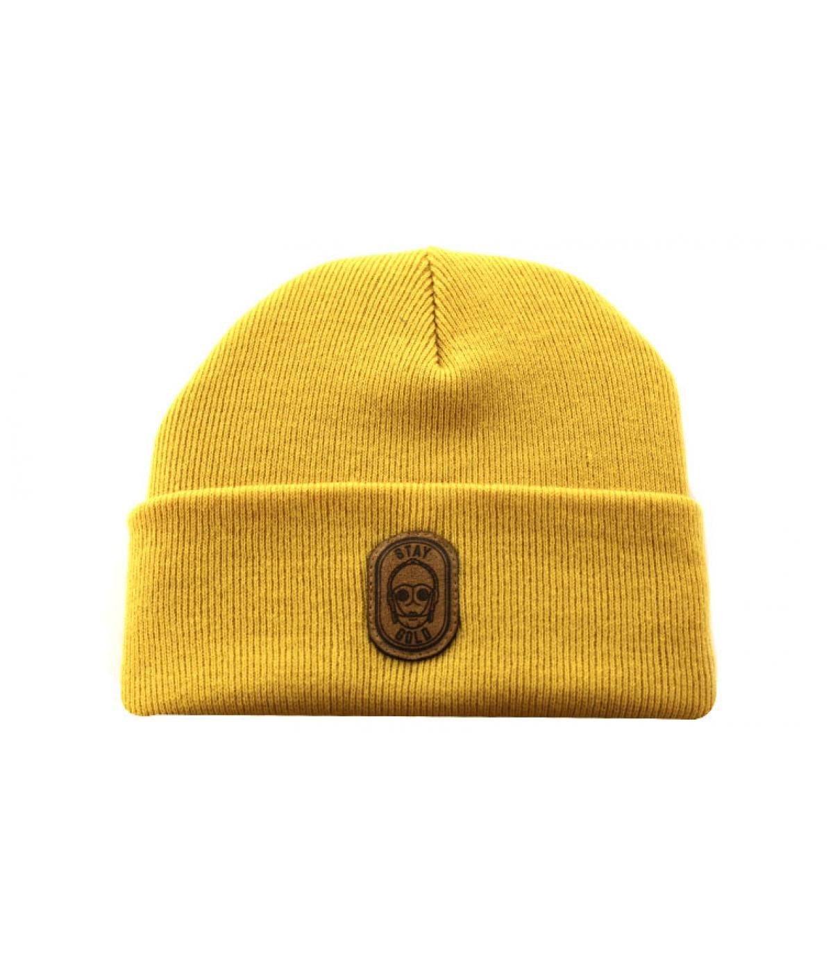 Details Beanie Stay Gold mustard - afbeeling 2