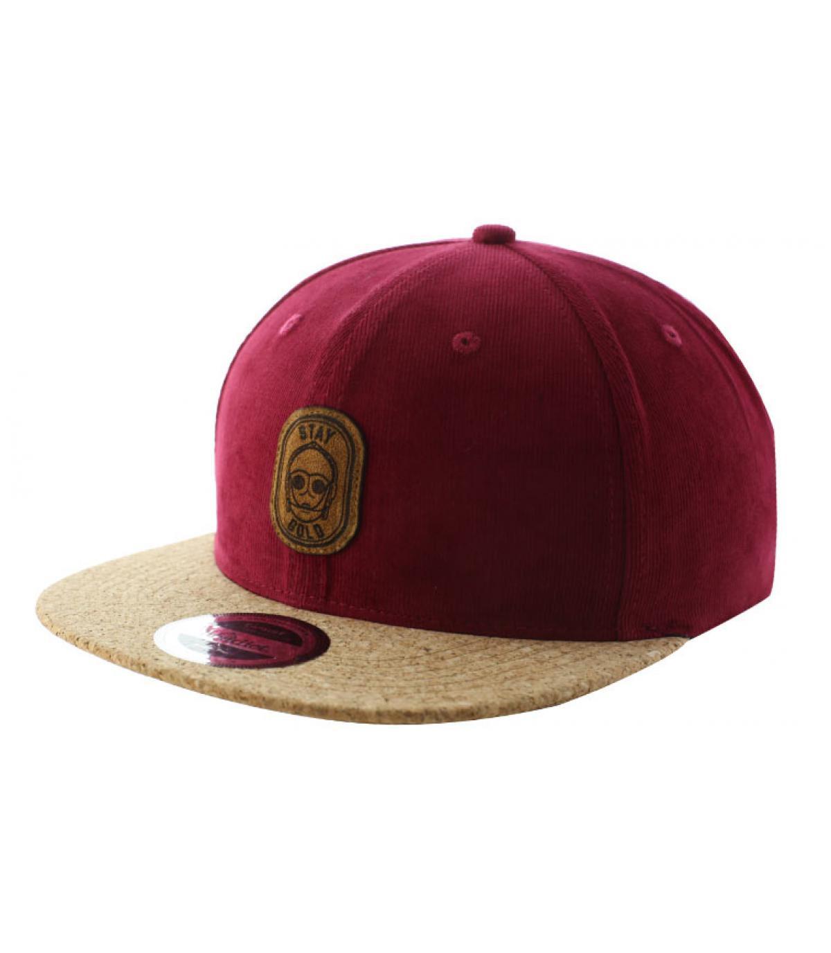 Details Snapback Stay Gold burgundy cork - afbeeling 2