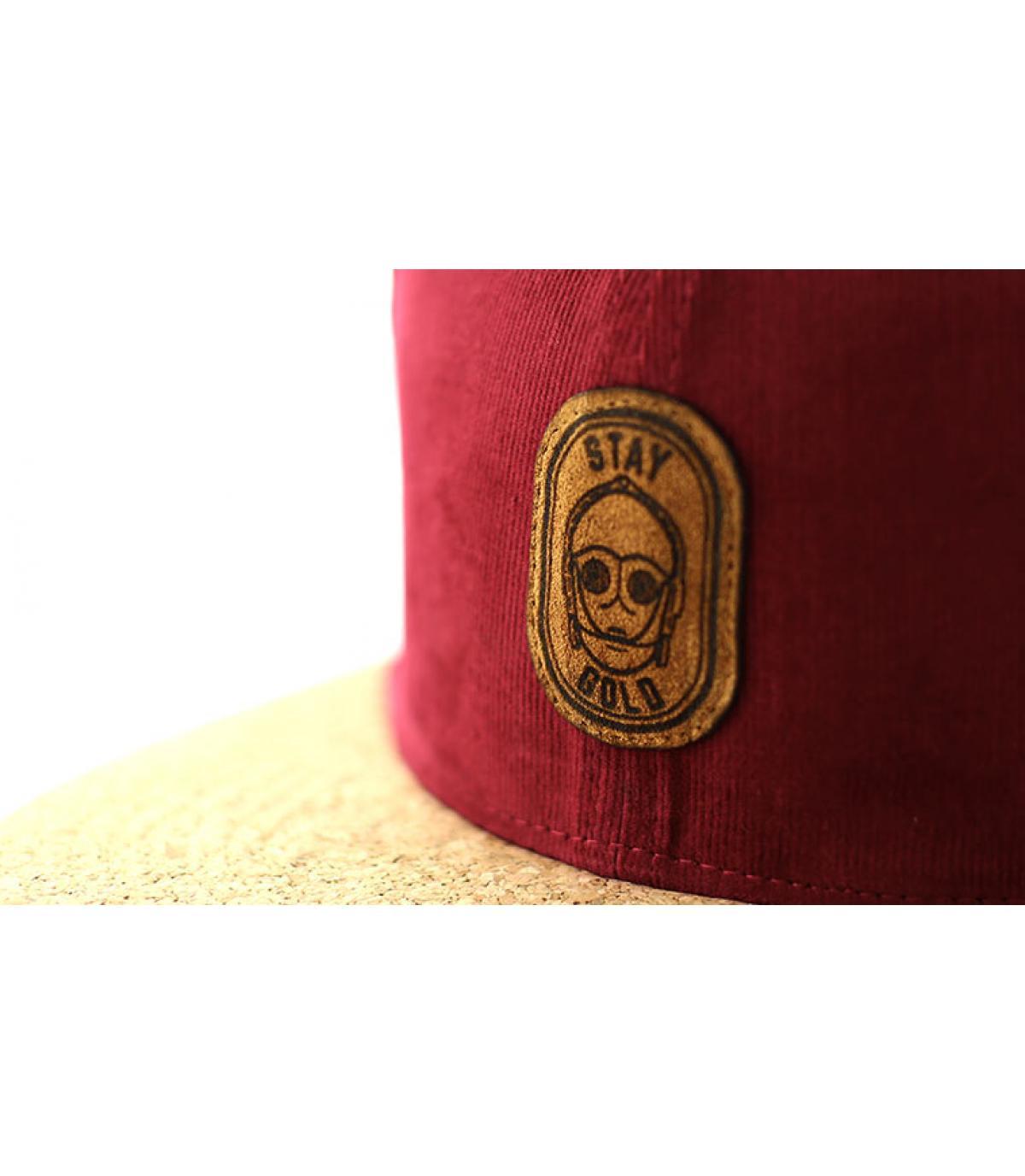 Details Snapback Stay Gold burgundy cork - afbeeling 3