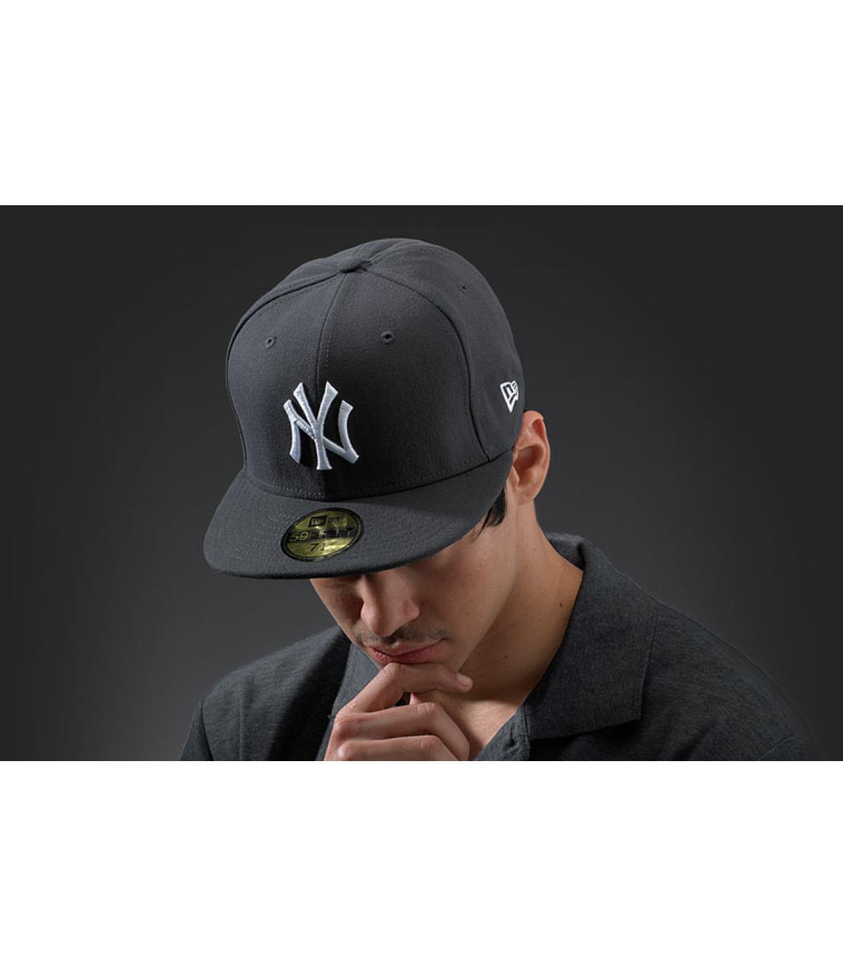 Cap New York grijs