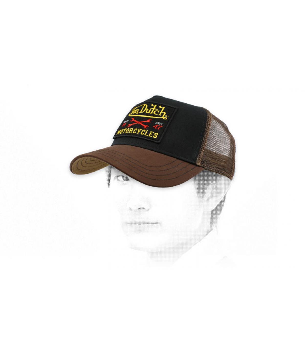 trucker Von Dutch bruin zwart