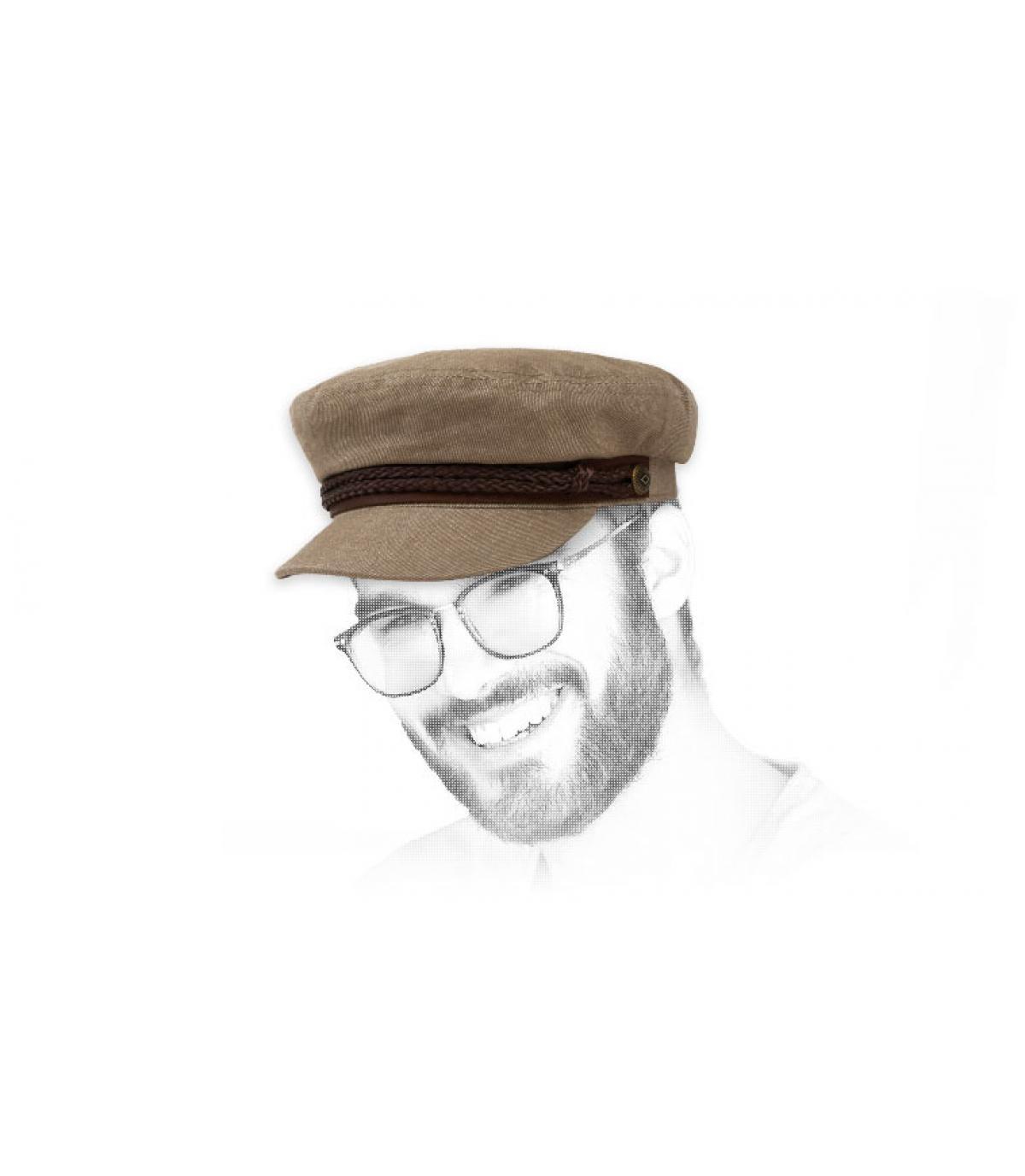 Brixton khaki zeilboot cap