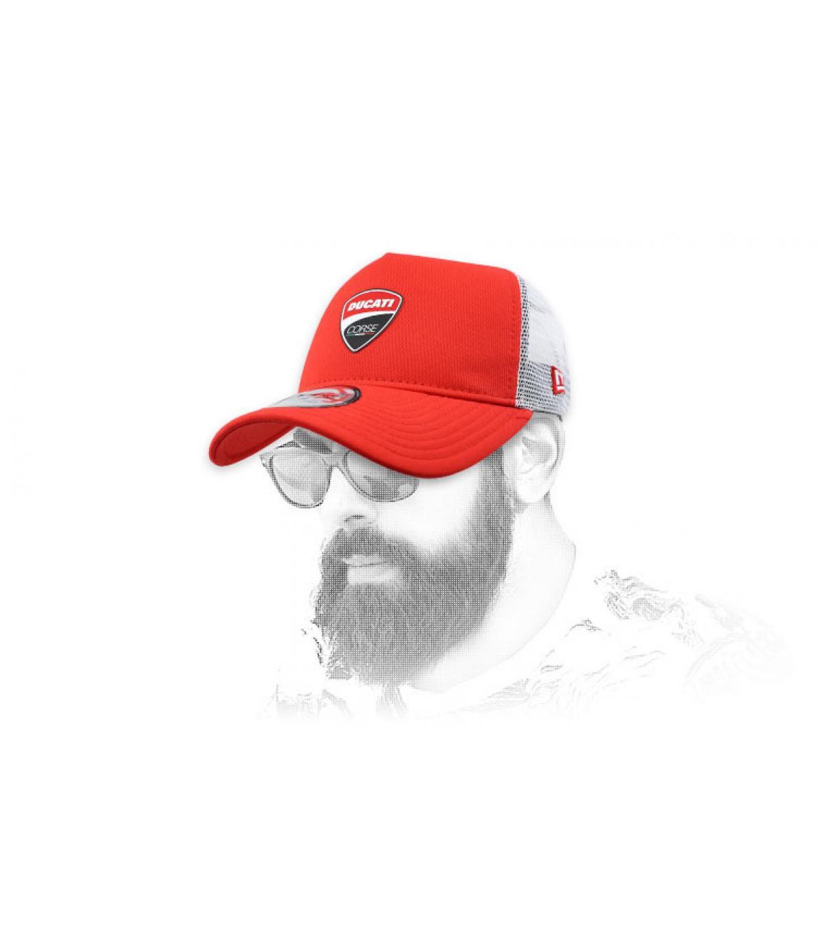 trucker Ducati rood