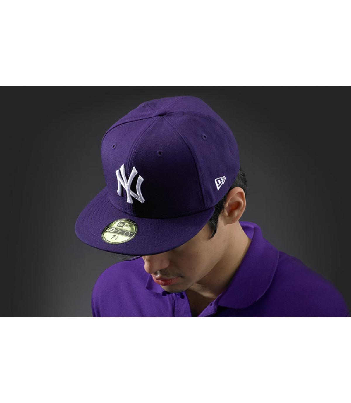 cap New York paars