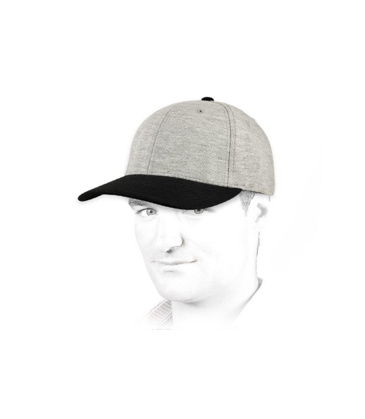 cap jersey grijs zwart