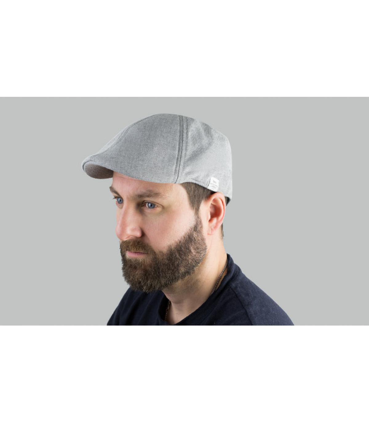 grijze katoenen eendenbek baret