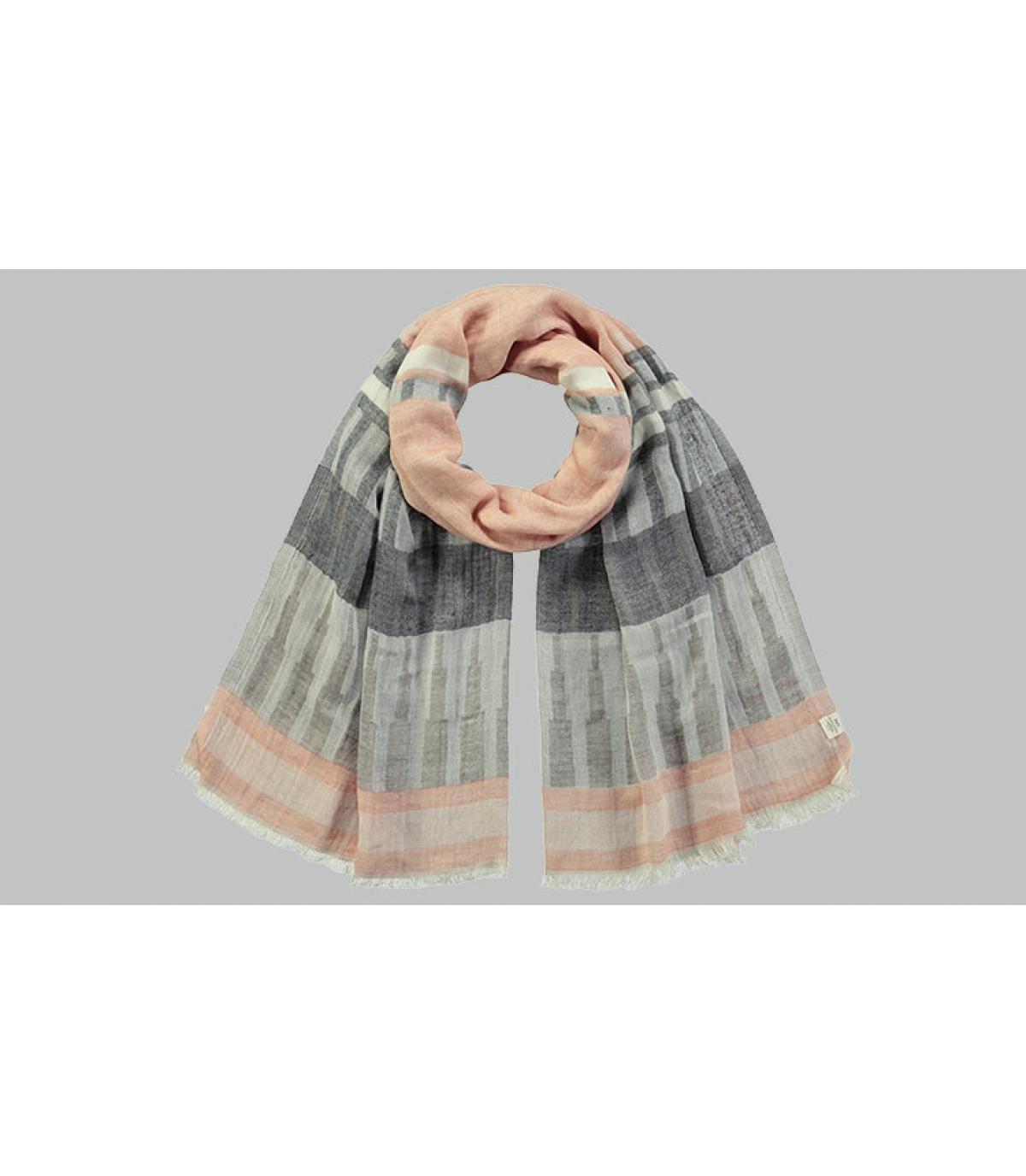 katoenen sjaal met zwarte strepen