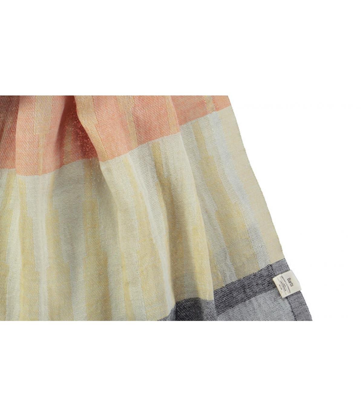 Oranje gestreepte katoenen sjaal